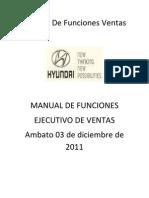 Manual de Funciones Ventas