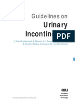 EAU Urological Guidelines Urinary Incontinence