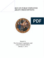 Disability Presumptions--Task Force Report