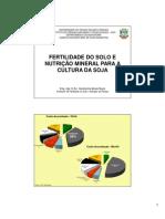 Fertilidade do Solo e Nutrição Mineral para a Cultura da Soja_0