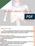 Exame físico tórax