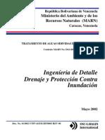 Tratamiento de Aguas Servidas del Río Motatán, Ingeniería de Detalle, Drenaje y Protección Contra Inundación
