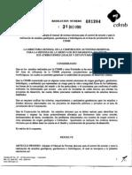 Resolucion 1294 de 2009 - Normas Geotecnicas