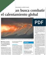 Plan contra el calentamiento global y el cambio climático