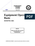 US Navy Course NAVEDTRA 14081 - Equipment Operator-Basic