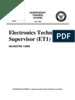 US Navy Course NAVEDTRA 14085 - Electronics Technician Supervisor (ET1)