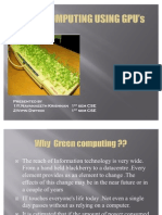 GREEN COMPUTING USING GPU's