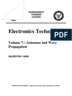 US Navy Course NAVEDTRA 14092 Vol 07 - Electronics Technician-Antennas and Wave Propagation