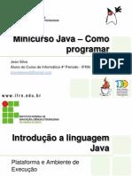 Minicurso Java – Como programar