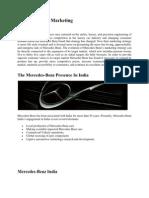 International Marketing of Mercedes-Benz