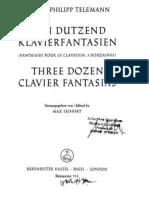 IMSLP29424-PMLP65875-Telemann 3 Dozen Clavier Fantasies