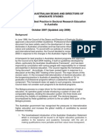 Framework for Best Practice in Doctoral Research Education