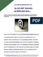 Mailing List Dell Azienda Cosa Non Devi Fare