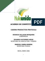 Acuerdo Regional Fruticola 2008