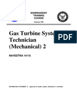 US Navy Course NAVEDTRA 14115 - Gas Turbine Systems