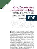 Massa, S. Et Al. Sicurezza Conservazzione e Valorizzazione BBCC. 2010