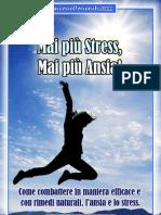 Mai più Stress, mai più ansia!