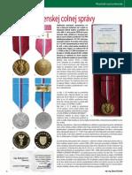 Medaily slovenskej colnej správy (Colné aktuality č. 11 - 12/2011)