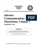 US Navy Course NAVEDTRA 14120 - Interior Communications Electrician, Volume 1