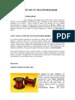 CONSTRUCCIÓN DE UN TRANSFORMADOR CASERO
