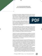Cabrera, J. La canción del restauro en un profesional modesto. 2009