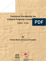 Marii, F. y Ghaidan, U. Technical Vocabulay Cultural Property Conserv. 2011