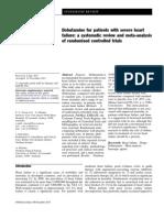meta analisis dobutamina