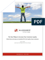 Allegiance Top 9 Ways to Increase Customer Loyalty
