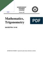 US Navy Course NAVEDTRA 14140 - Mathematics Trigonometry -1989