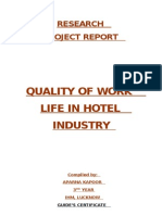 Quality of Work Life in Hotel Industry