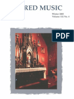 Sacred Music, 132.4, Winter 2005; The Journal of the Church Music Association of America