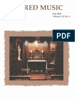 Sacred Music, 132.3, Fall 2005; The Journal of the Church Music Association of America