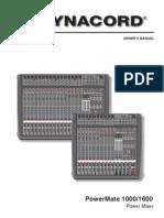 Dynacord Powermate 1000 Manual