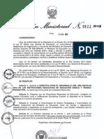 Directiva para el desarrollo del año escolar 2012_RM-0622-2011-ED