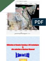 استخدام تقنيات الاستشعار عن بعد ونظم المعلومات الجغرافية في التخلص من النفايات النووية