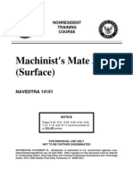 US Navy Course NAVEDTRA 14151 - Machinist's Mate 3&2 (Surface)