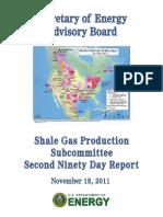 Secretary of Energy Advisory Board Shale Gas Production Subcommittee Final Report, November 2011