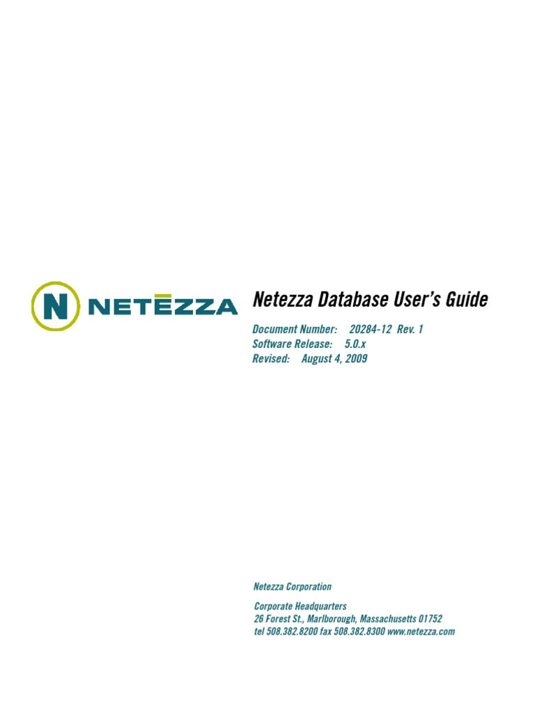 Netezza Database Users Guide | Copyright | Electromagnetic