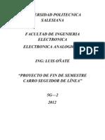 Informe Seguidor de Linea 2