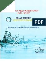 Pavillion (WY) Area Water Study Level 1 Executive Summary, October 2011