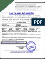 Carta de Aval de Minero