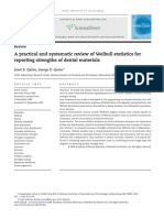 A Practical and Systematic Review of Weibull Statistics For