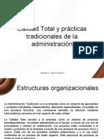 Calidad Total y Practicas Tradicionales de La Admin is Trac Ion