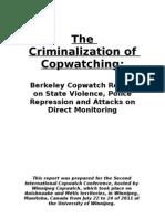Berkeley CopWatch.the Criminalization of Copwatching.report October 2011