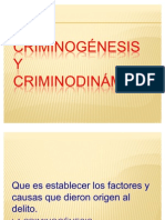 CRIMINOGNESIS Y CRIMINODINMICA