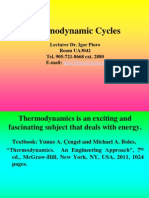 Thermodynamics Cycles Lectures 1_2_Chapter 1