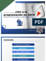Introducción a la programación en JAVA