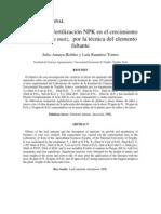 Efecto de la fertilización NPK
