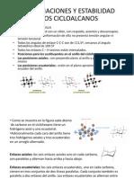 Conformaciones y ad de Los Cicloalcanos