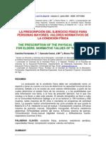 Artculo 3 La Prescripcin Del Ejercicio Fsico Para Personas Mayores. 2001 (1)